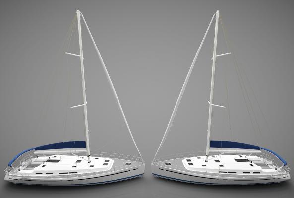 現代風格小船3D模型【ID:443145818】