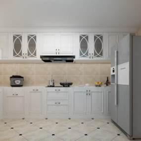 現代廚房3D模型【ID:547221369】