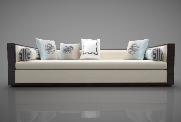 新中式风格沙发3D模型【ID:645455669】