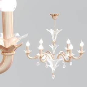 北欧金属玻璃吊灯3D模型【ID:734917872】