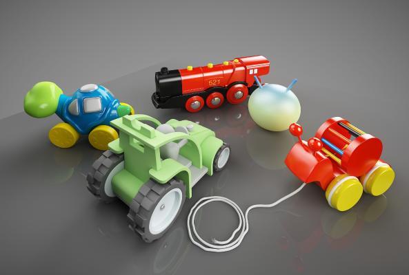 现代幼儿用品3D模型【ID:433234171】