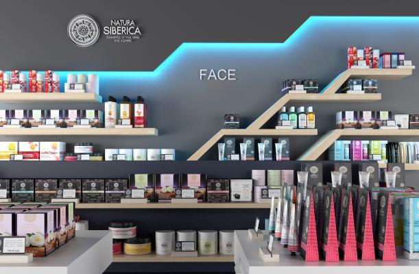 现代化妆品展示架 摆件