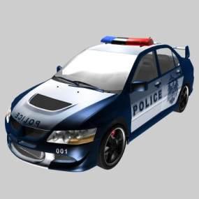 现代警车3D模型【ID:432495722】