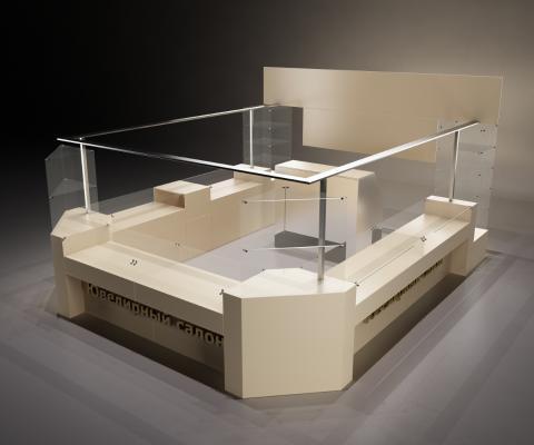 现代展柜柜台3D模型【ID:941498804】