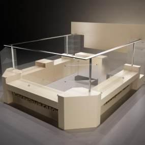 現代展柜柜臺 3D模型【ID:941498804】