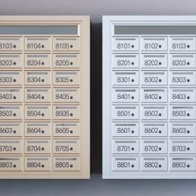 现代金属不锈钢收纳柜3D模型【ID:153011859】