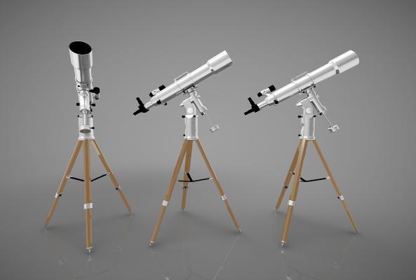 現代風格天文望遠鏡3D模型【ID:445851070】