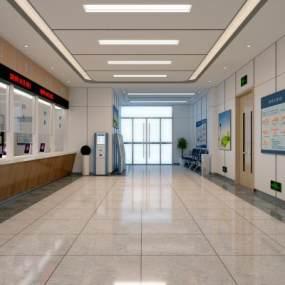 现代医院大厅3D模型【ID:933021778】
