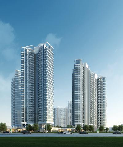 现代高层住宅塔楼3D模型【ID:147379788】