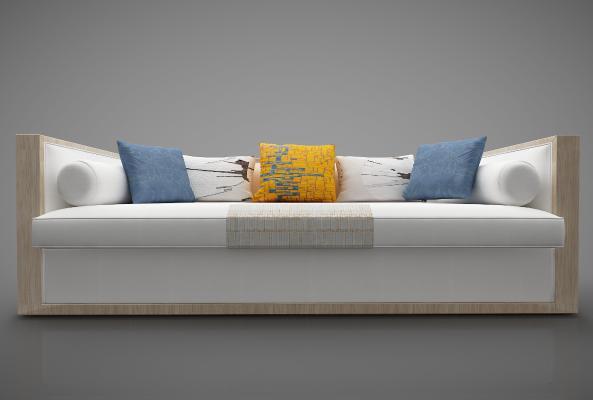 新中式风格沙发3D模型【ID:645455637】