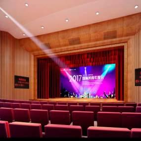 新中式大剧院3D模型【ID:935775944】
