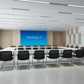 现代会议室3D模型【ID:952627165】
