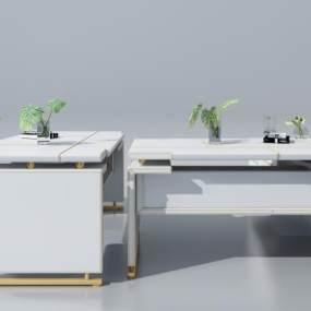 北欧办公桌3D模型【ID:935746104】