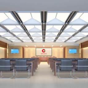 現代銀行會議室3D模型【ID:934817162】
