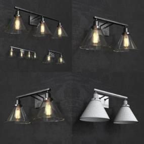 工业风壁灯3D模型【ID:742420985】
