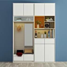 现代衣柜3D模型【ID:131801475】