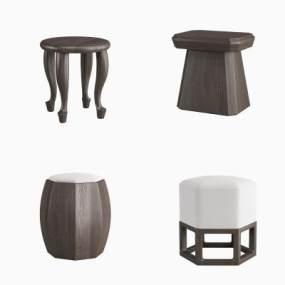 新中式凳子3D模型【ID:732772667】
