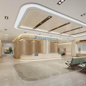 现代医院急诊大厅3D模型【ID:935669729】