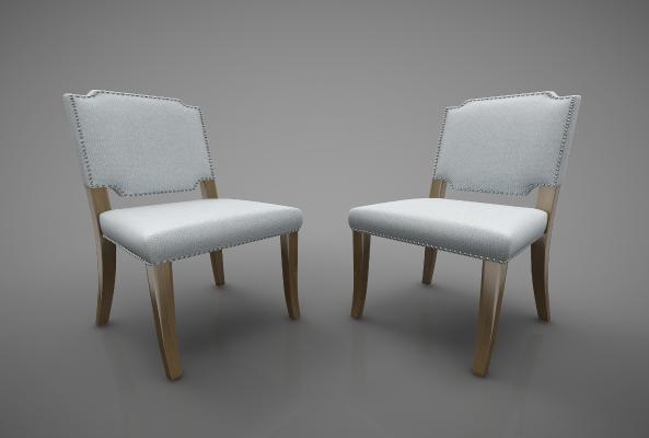 现代风格餐椅3D模型【ID:742046111】