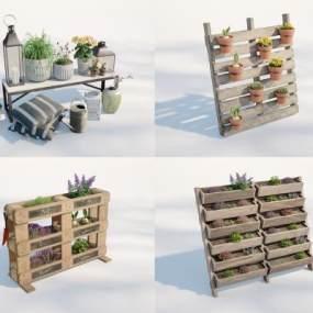 現代盆栽3D模型【ID:251146818】