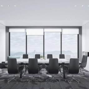 现代会议室3D模型【ID:951969140】