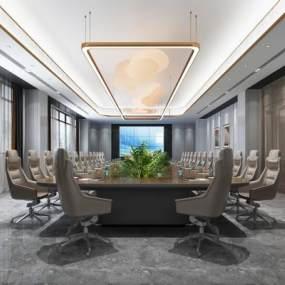 現代會議室3D模型【ID:950541196】