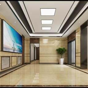 现代门厅3D模型【ID:932747538】