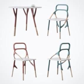 北欧休闲桌椅组合3D模型【ID:845189941】