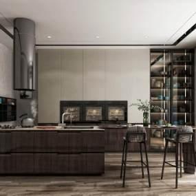 现代厨房3D模型【ID:553009384】