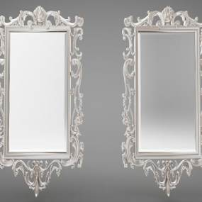 欧式风格镜子3D模型【ID:247377596】