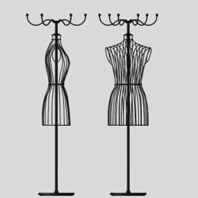 现代衣架模特3D模型【ID:335759699】