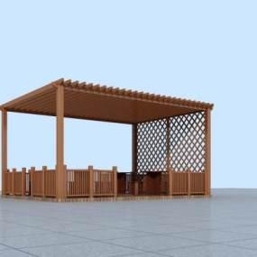 现代廊架3D模型【ID:135971415】