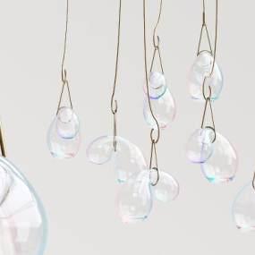 现代玻璃球吊灯3D模型【ID:732741862】