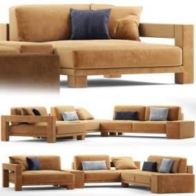 现代vision多人沙发3D模型【ID:645230717】