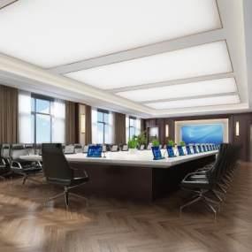 現代會議室3D模型【ID:949220177】
