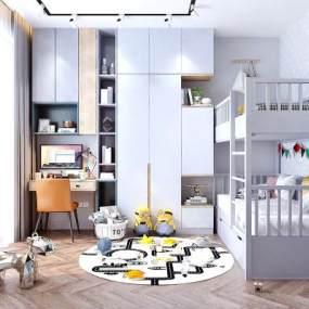 现代儿童房 3D模型【ID:542372229】