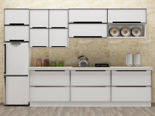 现代厨房吊柜3D模型【ID:132527715】