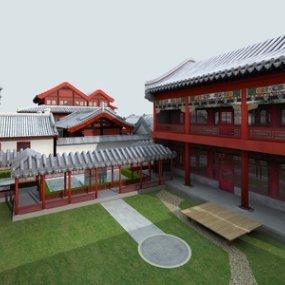 传统中式古建筑3D模型【ID:235774192】