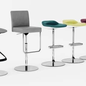 现代吧椅3D模型【ID:732357288】