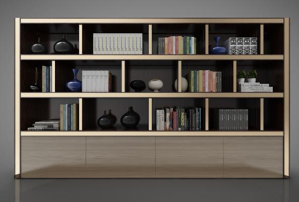 新中式风格装饰柜3D模型【ID:144700153】