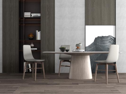 现代餐桌3D模型【ID:853726877】