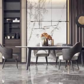 现代餐桌椅组合3D快三追号倍投计划表【ID:834352804】