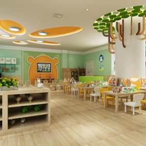 新中式幼儿园3D模型【ID:932504621】
