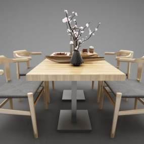 現代風格餐桌3D模型【ID:846939855】