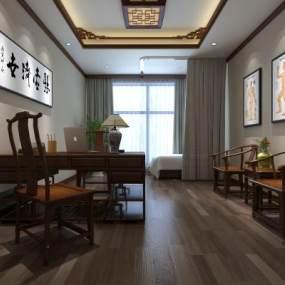 中式中医诊所3D模型【ID:943413779】