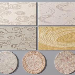 现代地毯3D模型【ID:335747219】