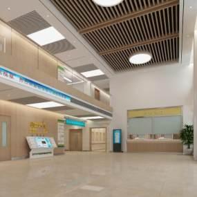现代医院大厅3D模型【ID:943816743】