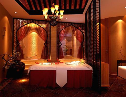 泰式東南亞SPA美容院按摩會所包廂3D模型【ID:841566236】