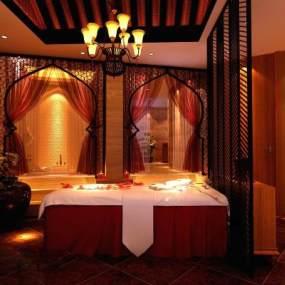 泰式東南亞SPA美容院按摩會所包廂 3D模型【ID:841566236】