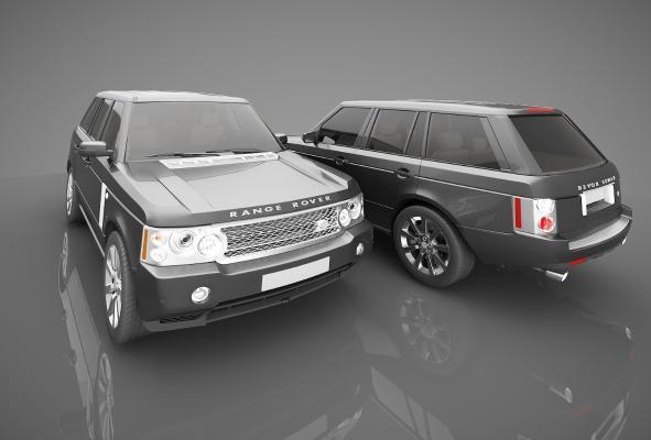 現代風格小汽車3D模型【ID:441875725】